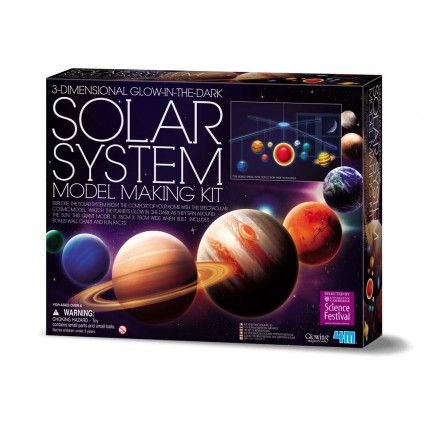 4M 3D Glow in the Dark Solar System Mobile Making Kit