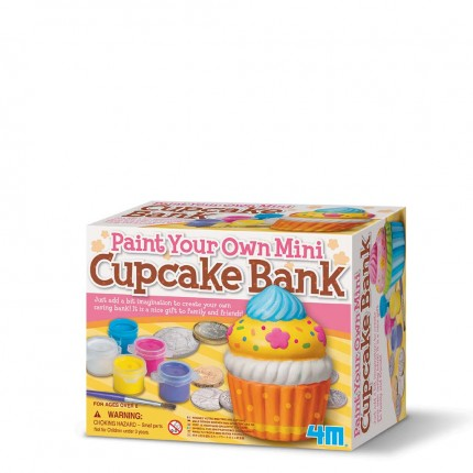 4M Paint Your Own Mini Cupcake Bank