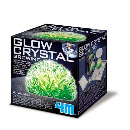 4M Science In Action Glow Crystal Growing