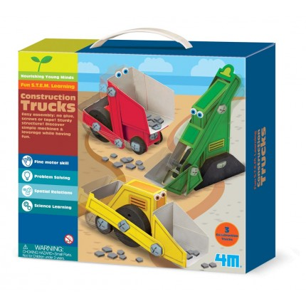 4M Young Minds Construction Trucks