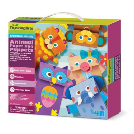 4M Young Minds Paper Bag Puppets