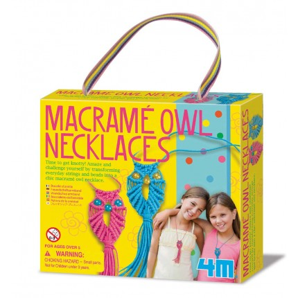 4M Macrame Owl Necklaces