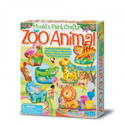 4M Mould and Paint - Zoo Animal