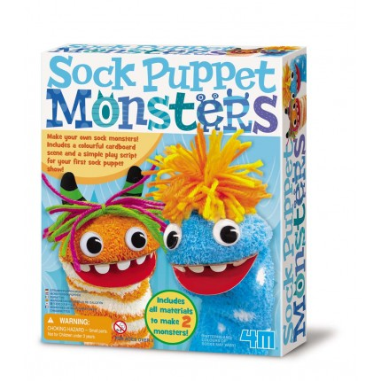 4M Sock Puppet Monsters