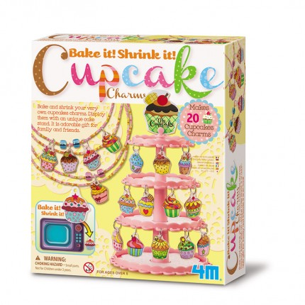 4M Bake and Shrink Cupcake Charms