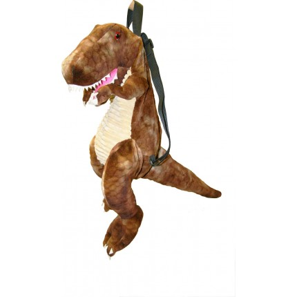Great Gizmos Backpack T-Rex Dinosaur Brown