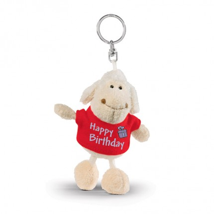 NICI Happy Birthday Sheep Bean Bag Keyring