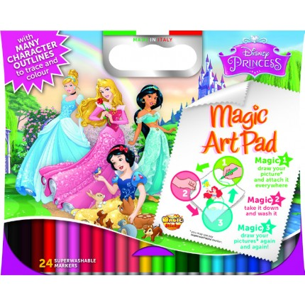 Magic Sticky Art Pad - Disney Princess