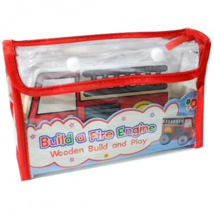 Meadow Kids Wooden Build and Play Fire Engine
