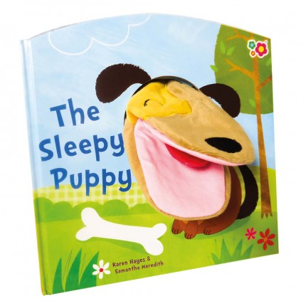 Meadow Kids The Sleepy Puppy Hand Puppet Book