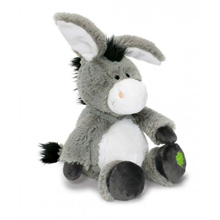 NICI Donkey with Clover Dangling 15cm Soft Toy
