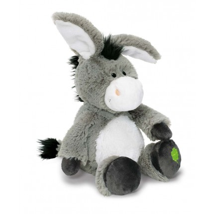 NICI Donkey with Clover Dangling 25cm Soft Toy