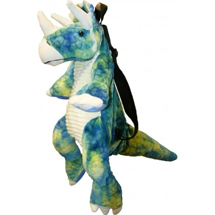 Natural History Museum Backpack Triceratops Dinosaur Blue/Green