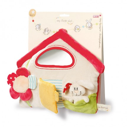 NICI Rabbit and House Activity Toy