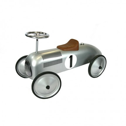 Silver Classic Racer Ride On
