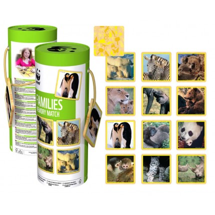 WWF Mother and Babies Animal Memory Game
