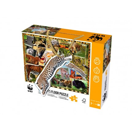 WWF Wild Cats 48 Piece Floor Puzzle