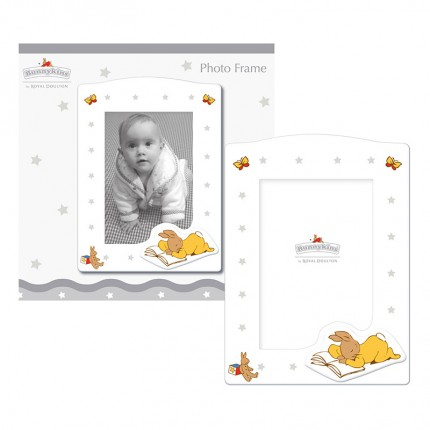 Bunnykins White Rectangular Wooden Photo Frame Small