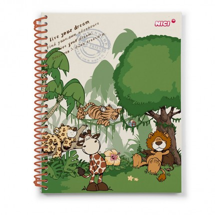 NICI Wild Friends A45 Checked Notepad