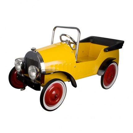 Yellow Classic Pedal Car