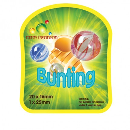 King Marbles Bunting Classic Marbles