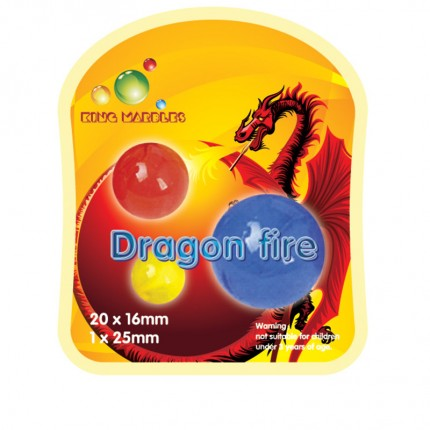 King Marbles Dragon Fire Classic Marbles