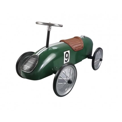 Green Retro Racer Ride On