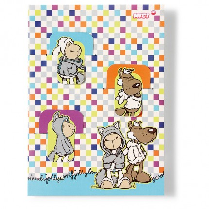 NICI Jolly Logan A5 Notebook with 3 Bookmarks