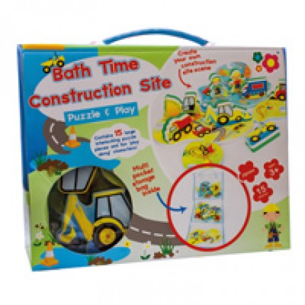 Meadow Kids Construction Site Puzzle and Play Bath Toy