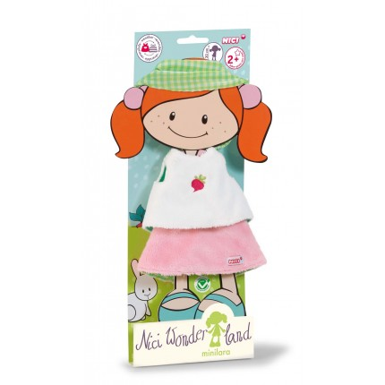 NICI Set Shirt Skirt And Hair Ribbon For Minilara Doll