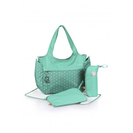 okiedog Khanda Celeb Baby Changing Bag - Emerald Green