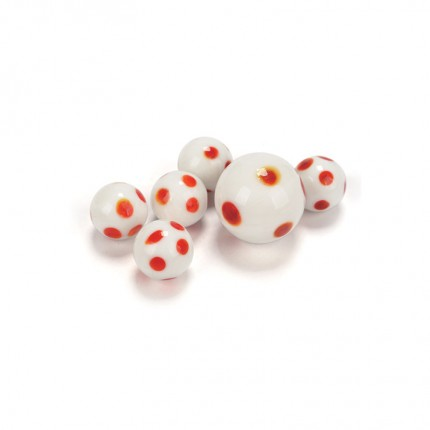 Red Dotties Handmade Marbles