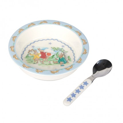 Bunnykins Shining Star Feeding Bowl and Spoon Set