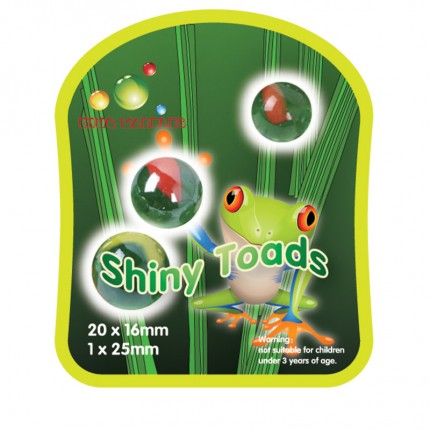 King Marbles Shiny Toads Classic Marbles