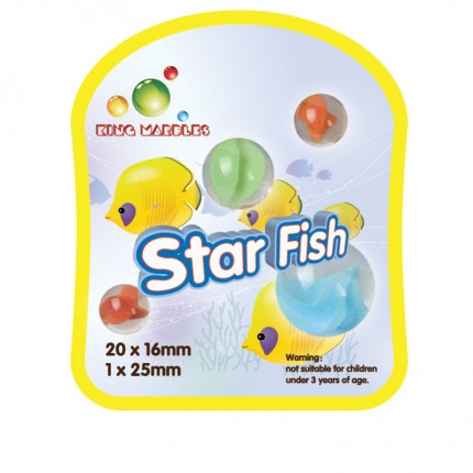 King Marbles Star Fish Classic Marbles