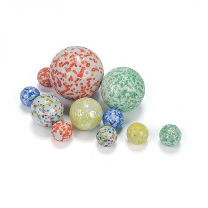 King Marbles White Cosmics Classic Marbles