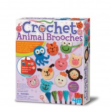 4M Crochet Animal Brooches