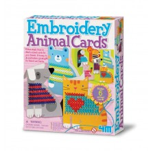 4M Embroidery Animal Cards Kit