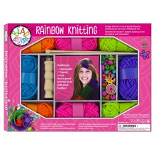 Bead Bazaar Rainbow Knitting Kit