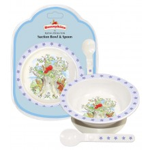 Bunnykins Suction Bowl and Spoon Blue