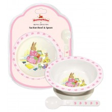 Bunnykins Suction Bowl and Spoon Pink
