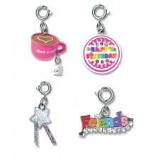 Charm It! Confetti Cake, Friends, Hot Chocolate and Magic Wand Charm Set