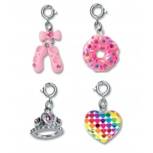 Charm It! Ballet Slipper, Heart, Donut and Tiara Charm Set