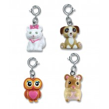 Charm It! Kitten, Puppy, Owl and Hamster Charm Set