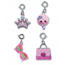 Charm It! Princess Crown, Candy Floss, Sunglasses and Purse Charm Set