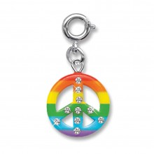 CHARM IT! Rainbow Peace Sign Charm