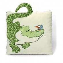 NICI Crocodile Square Cushion