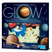 4M Glow in the Dark Planets and Nova Stars 20pcs