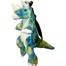 Great Gizmos Backpack Triceratops Dinosaur Blue-Green