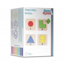 Great Gizmos Wooden Shapes Match Numbers